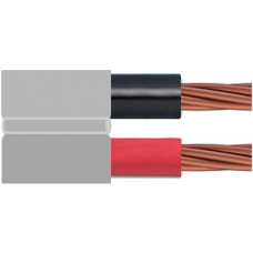 0.6/1kV 2C x 1.5mm2 Stranded Cu PVC/PVC Red/Black/Grey Flat Parallel Webbed