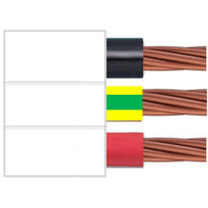 450/750V 3C x 2.5mm2 Stranded Cu PVC/PVC Red/Black/Green/Yellow/White Flat